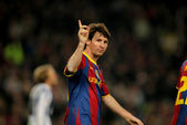Leo Messi of Barcelona celebrates goal — Stock Photo