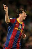 Leo messi del barcellona festeggia il gol — Foto Stock