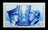 Hitler and Mussolini stamp — Stock Photo