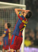 David Villa of Barcelona in action — Stock Photo
