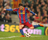 Messi of Barcelona in action — Foto Stock