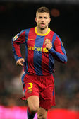 Pique of Barcelona during the match between FC Barcelona — Stock Photo