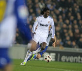 Emmanuel Adebayor of Real Madrid — Stock Photo