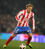 Diego Forlan of Atletico Madrid — Stock Photo