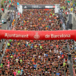 Runners on start of La Cursa de la Merce — Stock Photo