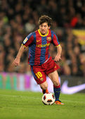 Leo messi del barcellona — Foto Stock
