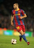 Javier Mascherano of Barcelona — Stock Photo