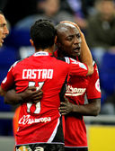 Pierre Webo of Mallorca celebrates goal — Stock Photo