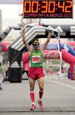 Athlete Roger Roca wins La Cursa de la Merce — Stock Photo