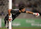 Olympiacos Goalkeeper Tomislav Butina — Stock Photo