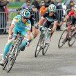 Pro Team Astana's cyclist Russian Evgeni Petrov — Stock Photo