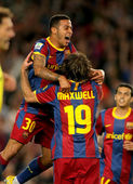 Thiago Alcantara of Barcelona celebrates goal — Stock Photo