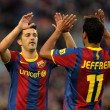 Stock Photo: Villand Jeffren of Barceloncelebrating goal