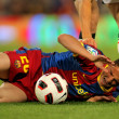 Ibrahim Afellay of Barcelona injured — Stock Photo