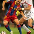 Foto Stock: Xavi Hernandez of Barcelonfight with Nekounam