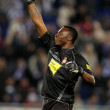 Carlos Kameni of Espanyol celebrates goal — Stock Photo