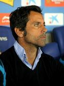 Atletico Madrid coach Quique Sanchez Flores — Stock Photo