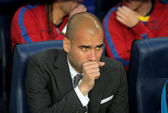 Josep Guardiola manager of Barcelona — Stock Photo