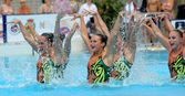 USA synchro swimmers team — Stock Photo