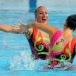 Stock Photo: Greeks synchro swimmers DespoinSolomou and NeftariRamnioti