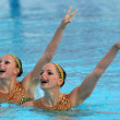 Stock Photo: French synchro swimmers SarLabrousse and Chloe Willhelm
