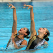 Mexicsynchro swimmers MarianCifuentes and Isabel Delgado — Stock Photo #18740067