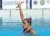 Hungarian synchro swimmer Eszter Czekus — Stock Photo