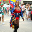 Transsexual parades during the annual Barcelona Gay and Lesbian Pride Festival — Stock Photo