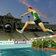 Ben Bruce of USA in action on 3000m steeplechase — Stock Photo