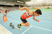 Agustin chicon de início de espanha de 400 metros — Fotografia Stock