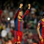 Постер, плакат: Gerard Pique of FC Barcelona
