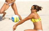 Spanish beach Volley player Cristina Hopf — Stock Photo