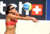 Spanish beach Volley player Ester Ribera — Stock Photo