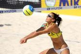Spanish beach Volley player Alejandra Simon — Stock Photo