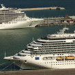 Large cruise ships Costa Serena and Splendida — Stock Photo