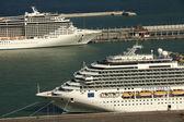 Large cruise ships Costa Serena and Splendida — Stock Photo