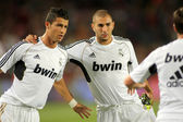 Karim Benzema(R) and Cristiano Ronaldo(L) — Stock Photo