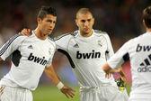 Karim Benzema(R) and Cristiano Ronaldo(L) — Stock Photo
