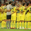 Villarreal team in silence minute — ストック写真
