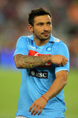 Ezequiel Lavezzi of SSC Napoli — Stock Photo