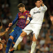 Gerard Pique(L) of FC Barcelonvies with Sergio Ramos(R) — Stock Photo #18878957