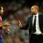Guardiola trainer of FC Barcelona — Stock Photo #18880215