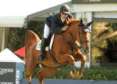Eduardo Alvarez Aznar of Spain in action rides horse Othello D'Auge — Stock Photo