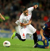 Martin Caceres of Sevilla FC — Stock Photo