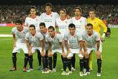 Sevilla FC team posing — Stock Photo