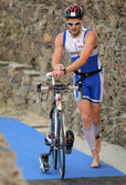 Triatlet geçiş — Stok fotoğraf