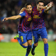Alexis Sanchez and Xavi Hernandez of FC Barcelona — Stock Photo #19140499