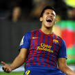 Alexis Sanchez of FC Barceloncelebrates goal — Stock Photo #19145963