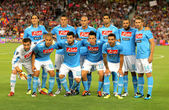 SSC Napoli team posing before Joan Gamper Trophy — Stock Photo