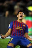 Alexis Sanchez of FC Barcelona celebrates goal — Stock Photo